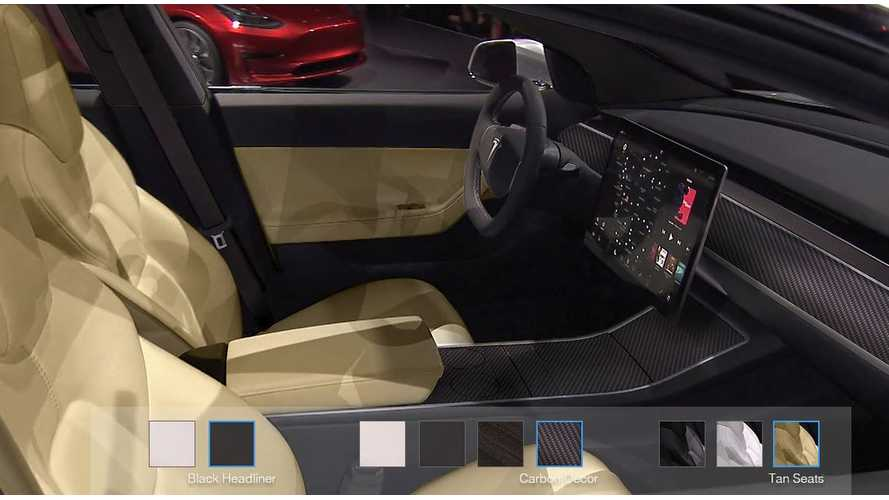 Tesla Model 3 Configurator (Unofficial) Now With Interior Options Too