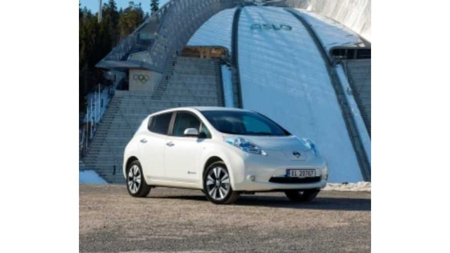 Over 3,300 Plug-Ins Sold In Norway In May, Market Share Stands at 25%