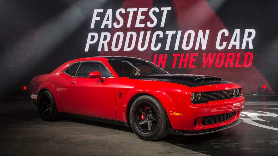 Dodge Demon Disclaimer Admits Its Slower Than Tesla Model S