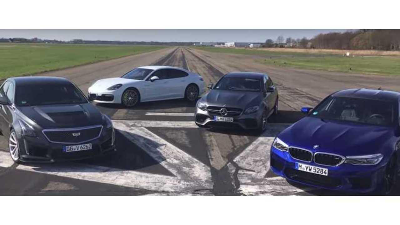 Watch Porsche Panamera Turbo S E-Hybrid Race BMW M5, AMG, CTS-V