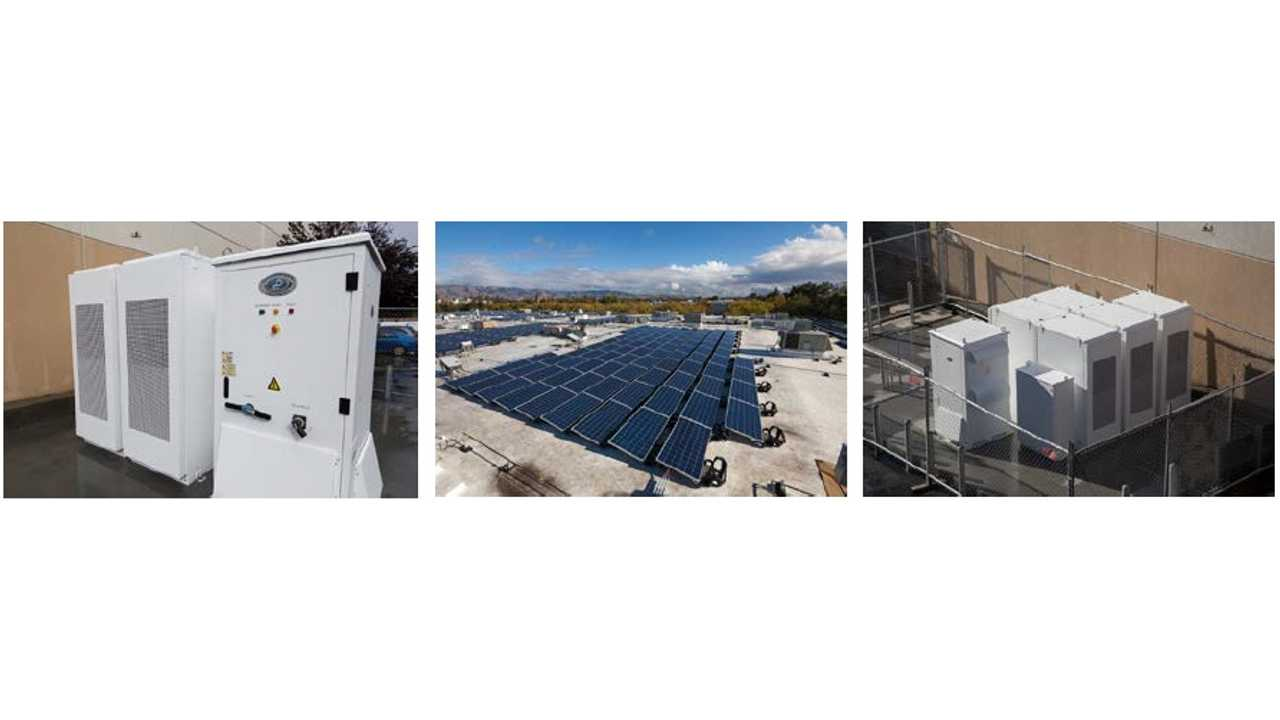 Sprig Electric installs one of the first Tesla Powerpack commercial batteries at the Sprig Electric headquarters (Image courtesy Sprig Electric)