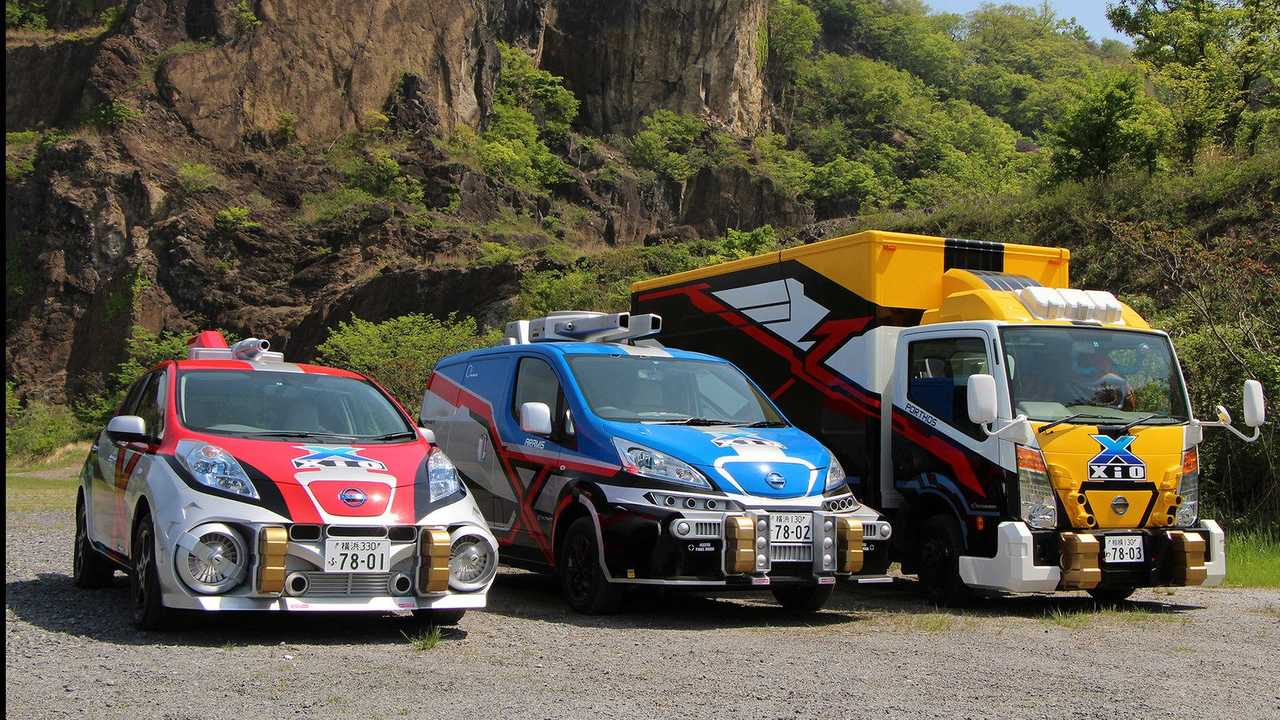 Nissan's EVs Armed For Ultraman X (w/video)