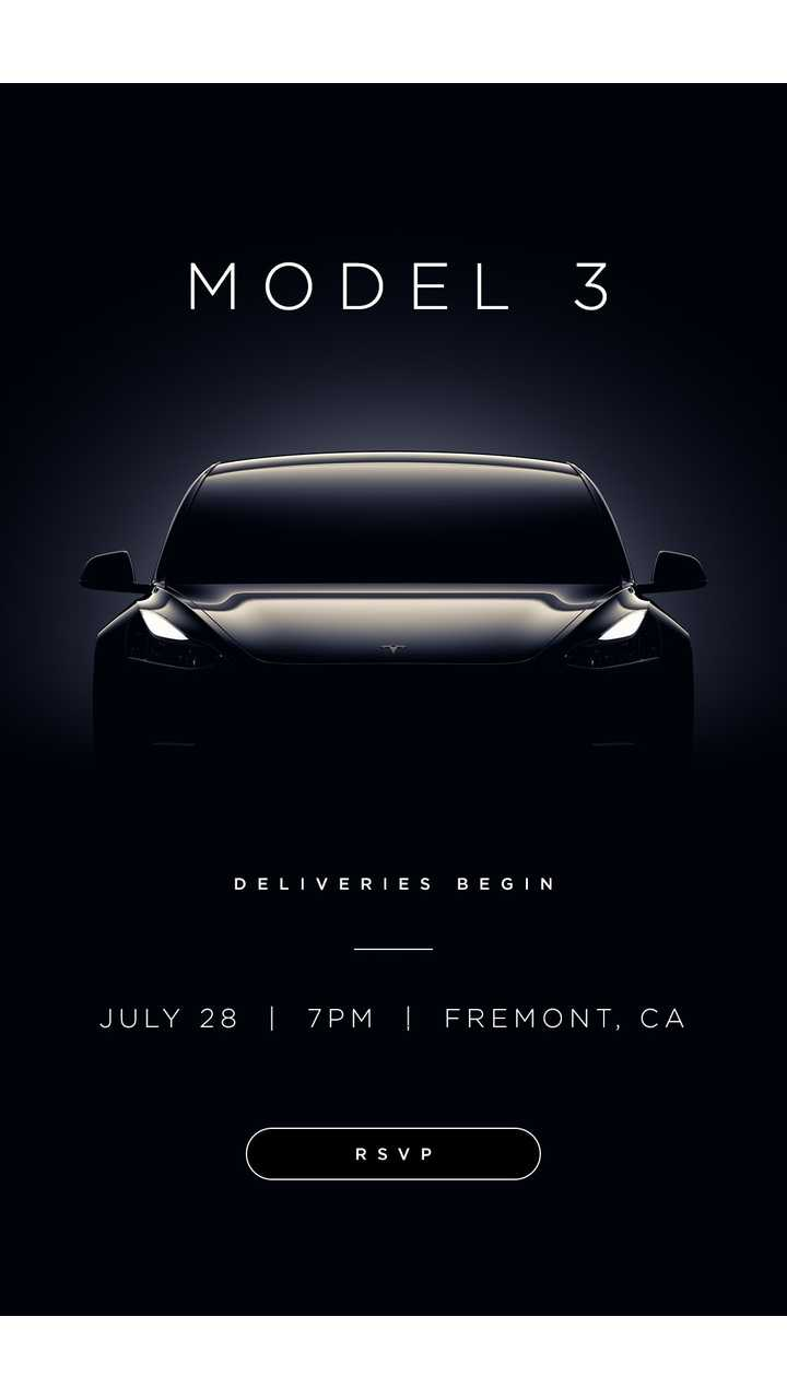 Tesla To Hand Over Model 3s On Friday Starting At 8:45 PM Pacific Time