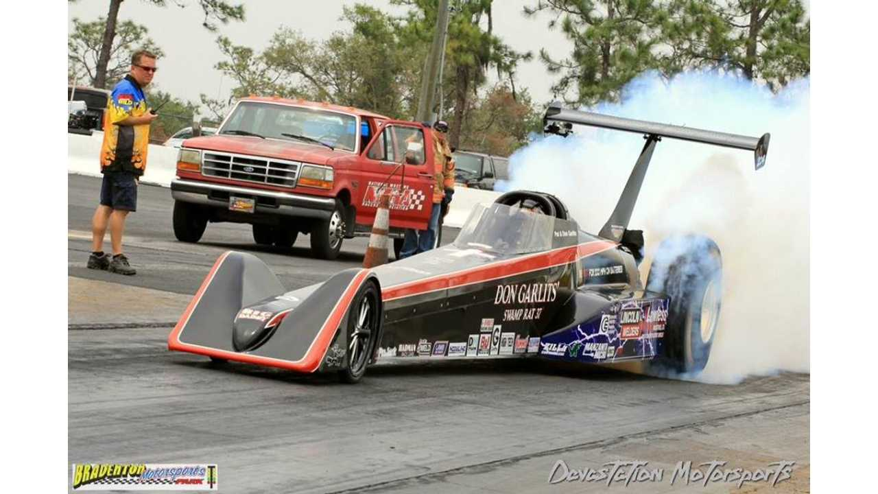 Big Daddy Don Garlit's tests<br />Swamp Rat 37 and breaks 180 mph!