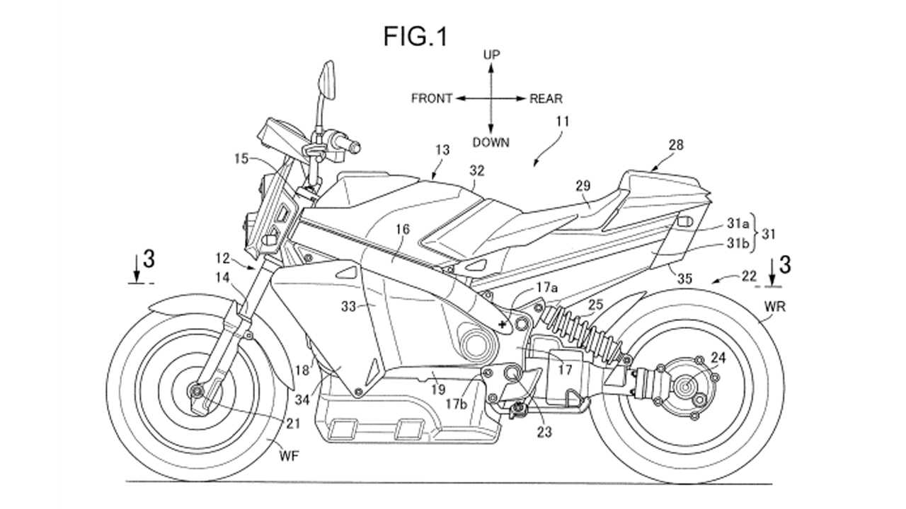 Honda Fuel Cell Motorcycle Patent