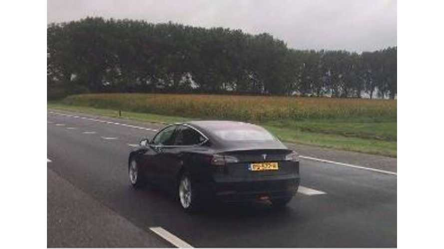 First Tesla Model 3 Spotted In Europe