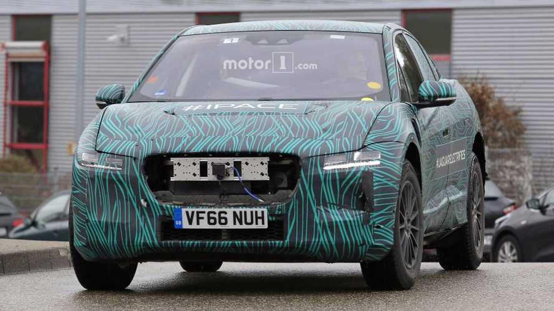 Jaguar I Pace Sheds Body Parts Some Camo Insideevs Photos