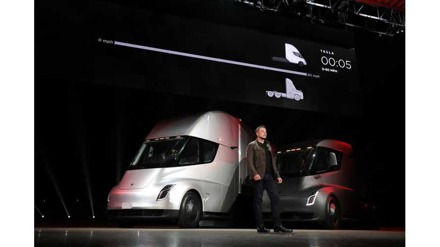 Round Up Of Tesla Semi Videos / Images Plus Some New Roadster
