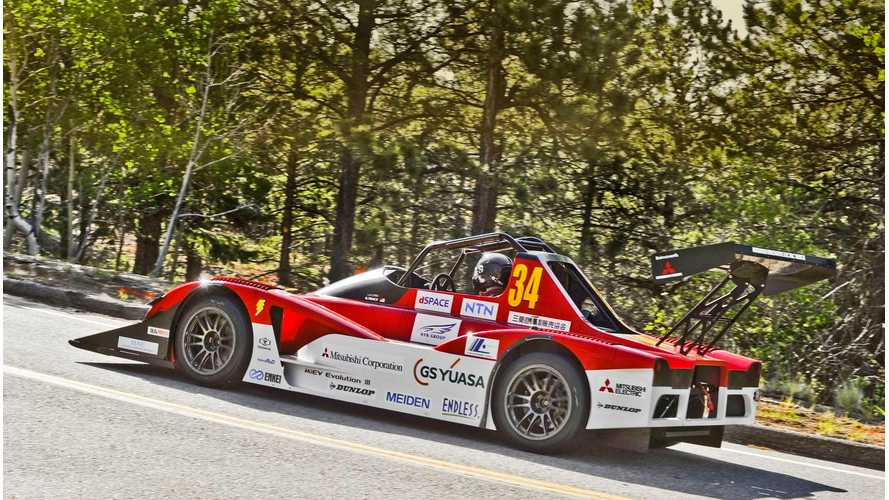 Complete Video Of Record-Breaking Mitsubishi MiEV Evolution III Run At Pikes Peak