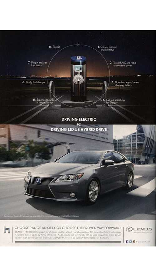 Lexus' Anti-EV Ad Lives On - Still Spreads Lies