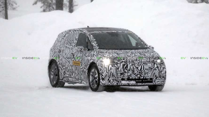 VW I.D. Neo Compact Electric Car Spied Winter Testing