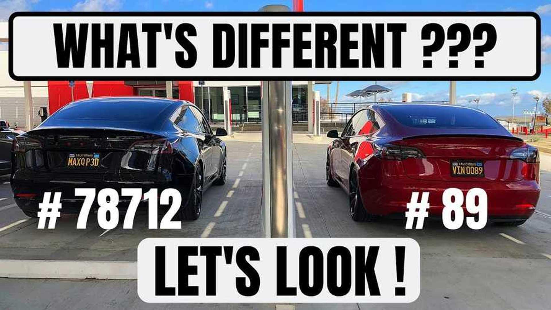 Tesla Model 3 VIN #89 Vs VIN #78712: What's Changed? Video