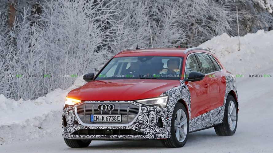 New Version Of More Powerful Audi E-Tron Spied: E-Tron Allroad?