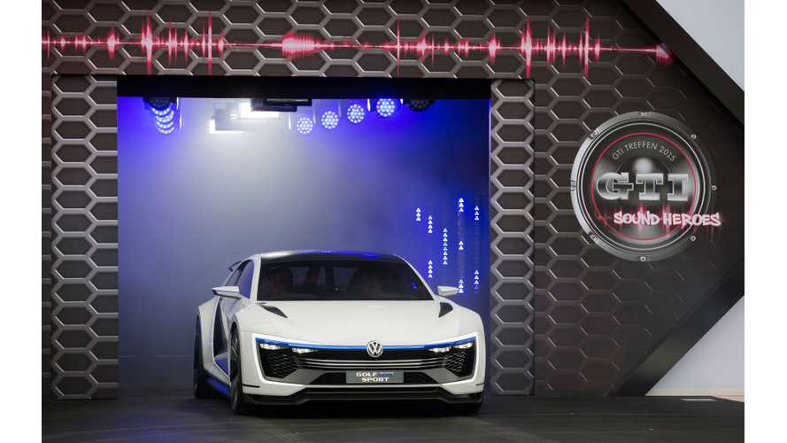Volkswagen Golf GTE Sport Concept - Live Photos & Videos