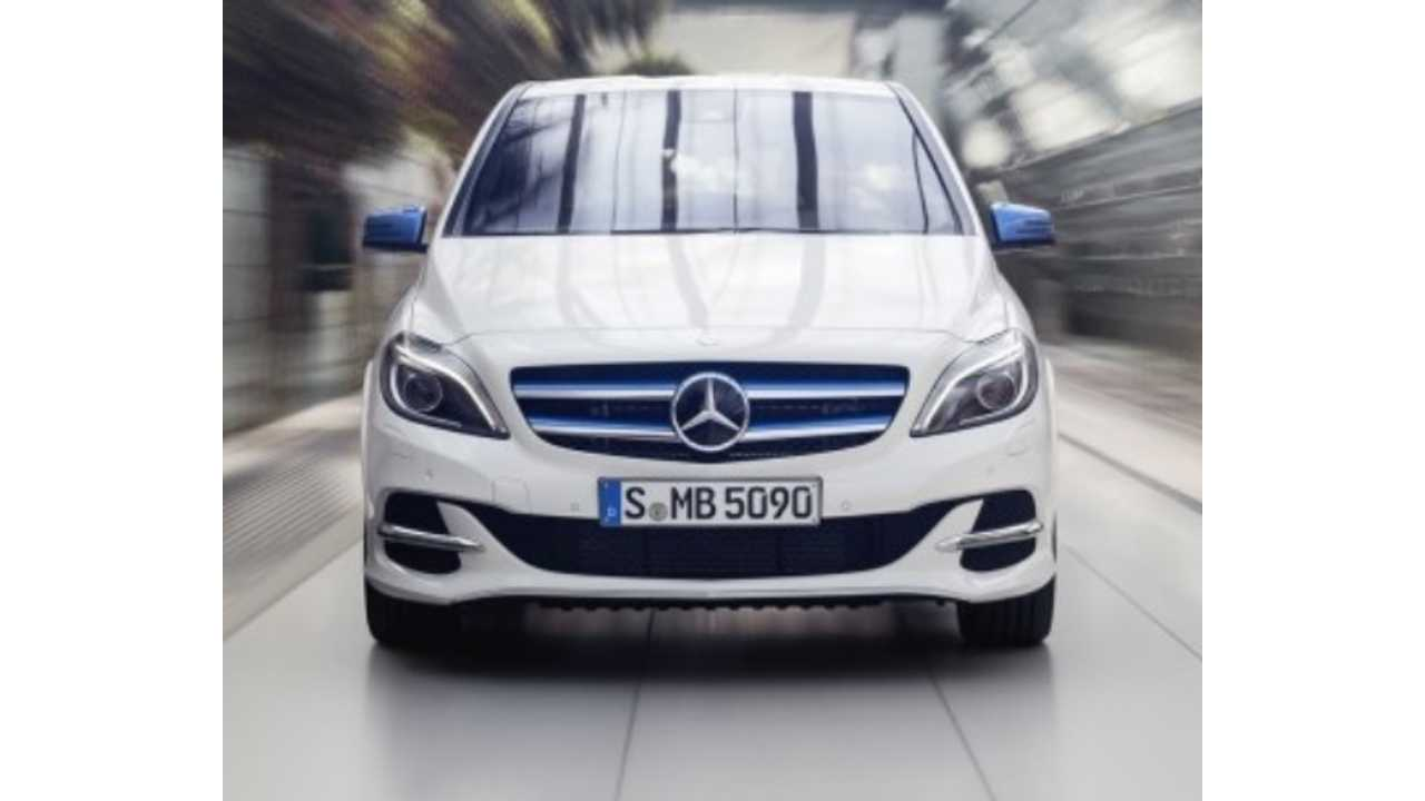 Facelifted Mercedes-Benz B-Class Electric Drive Gets Revealed - Video
