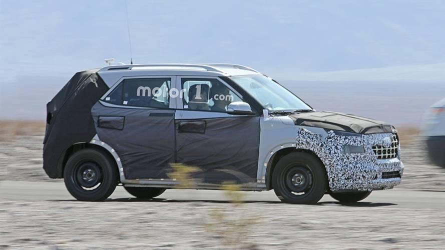 Compact Hyundai SUV Spy Photos