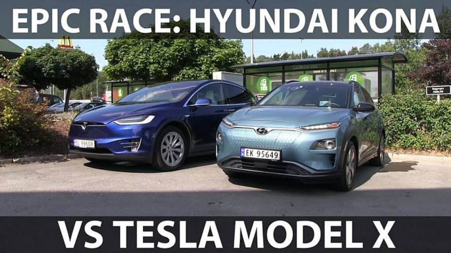 Hyundai Kona Electric Races Tesla Model X For 600 Miles