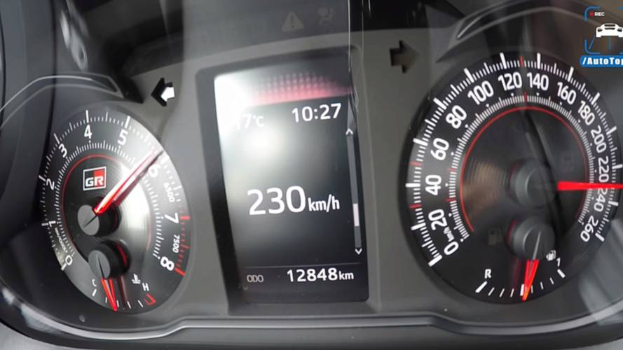 Watch Toyota Yaris GRMN Accelerate All The Way Up To Top Speed