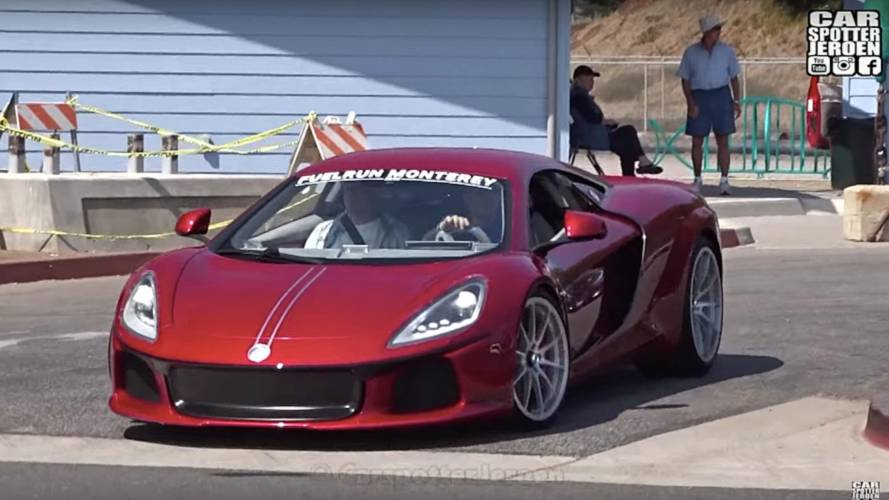 Super-rare ATS GT caught on video scraping front bumper