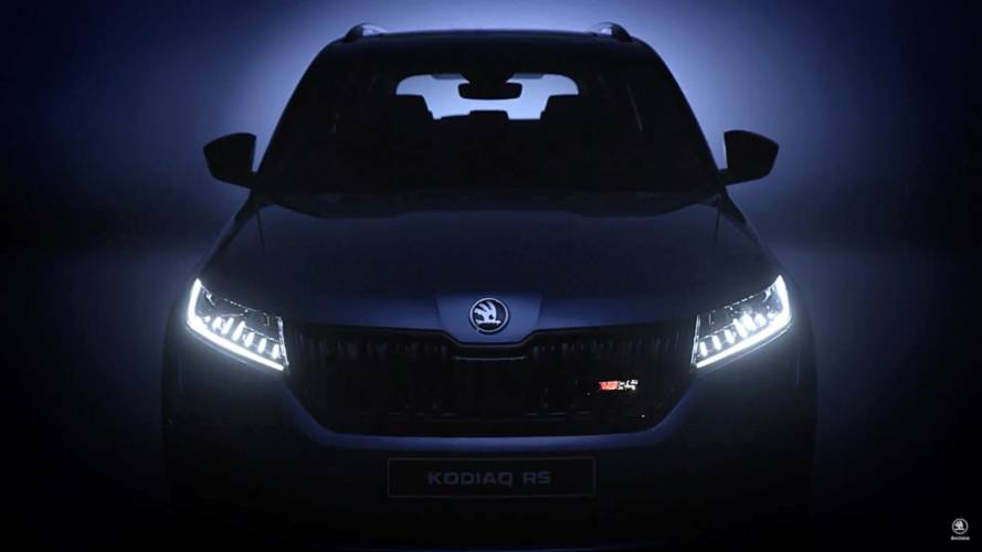 2019 Skoda Kodiaq RS shows full-LED headlamps in new teaser video