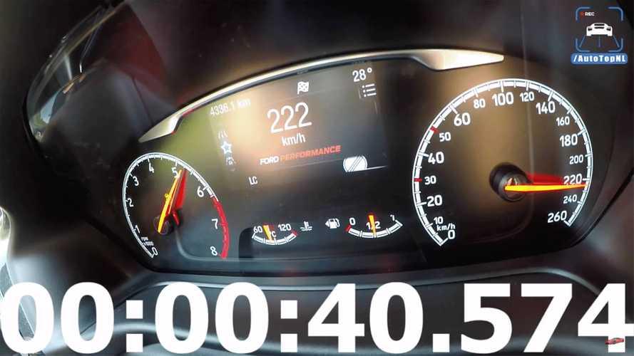 Yeni Ford Fiesta ST'nin son hız denemesine bir göz atın