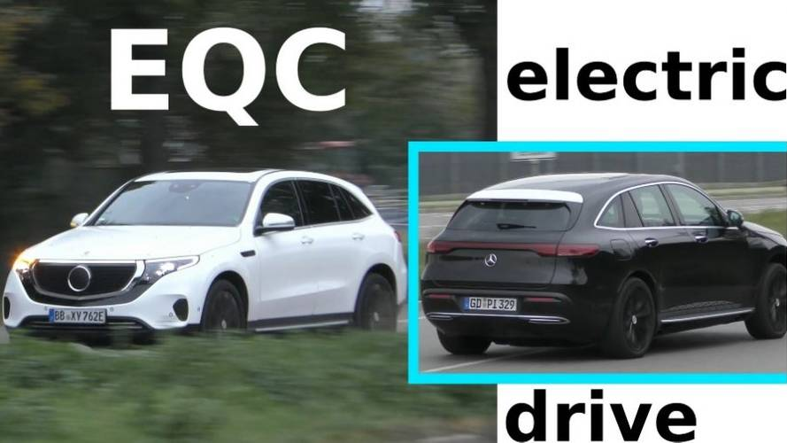 Mercedes-Benz EQC Spotted In Black & White In The Wild
