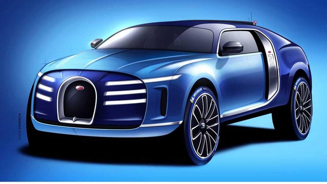 Bugatti SUV renderkép