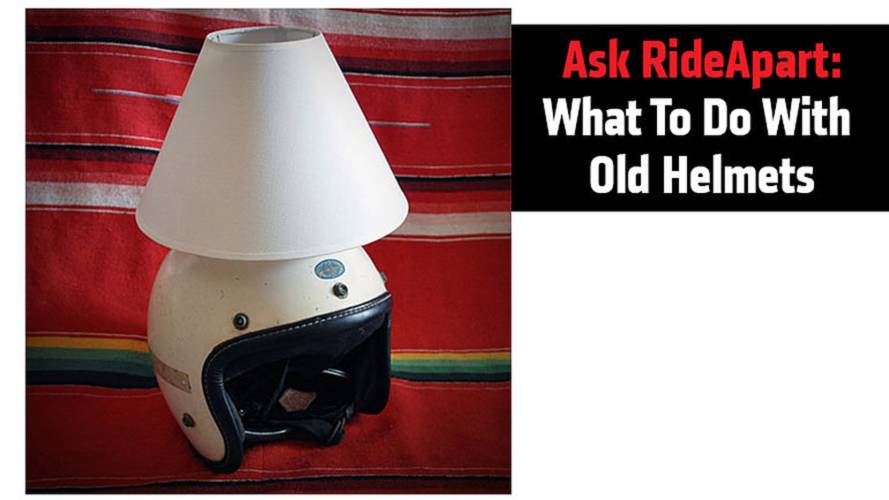 Ask RideApart: What To Do With Old Helmets?