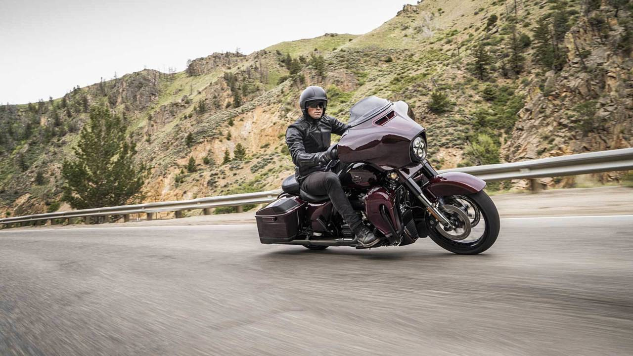 The stripped down CVO Street Glide.