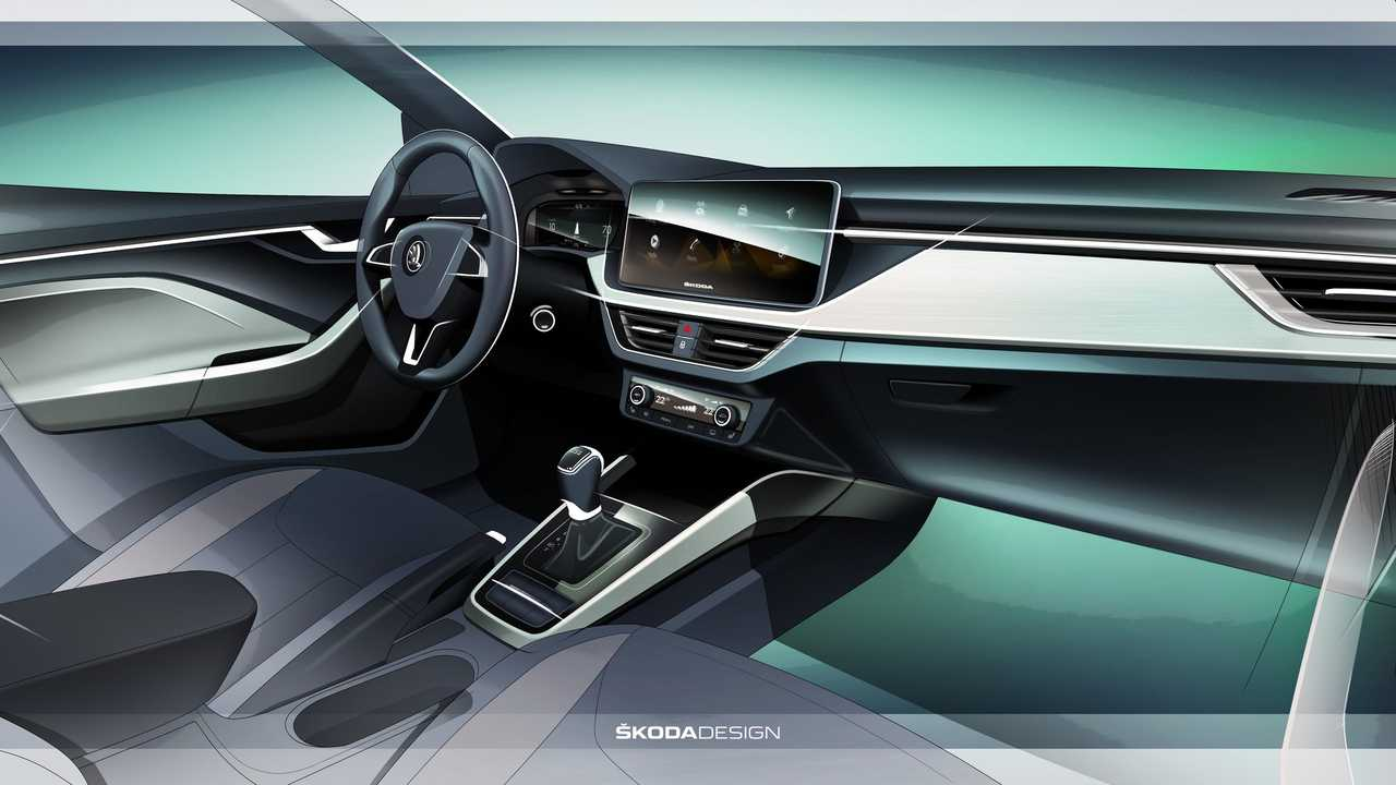 Skoda Scala interior design sketch