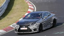 Lexus RC F GT at the Nurburgring spy photos