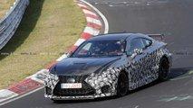Lexus RC F GT at the Nurburgring spy photos