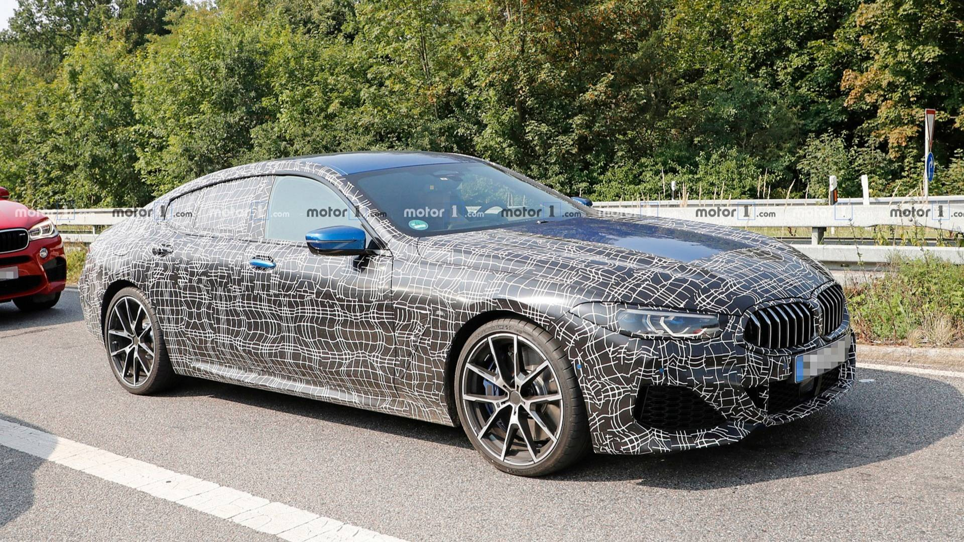 Bmw 8 Series Gran Coupe Spied Soaking Up Some Sun