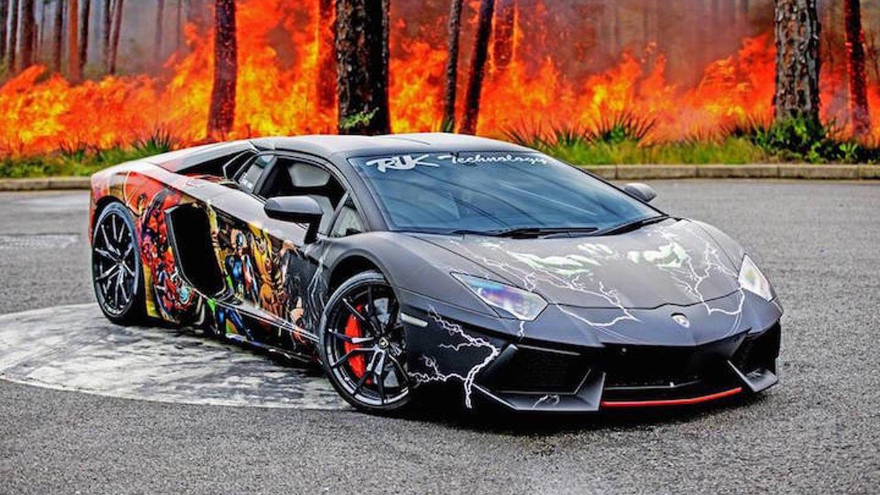 Marvel And DC Lamborghini Aventador