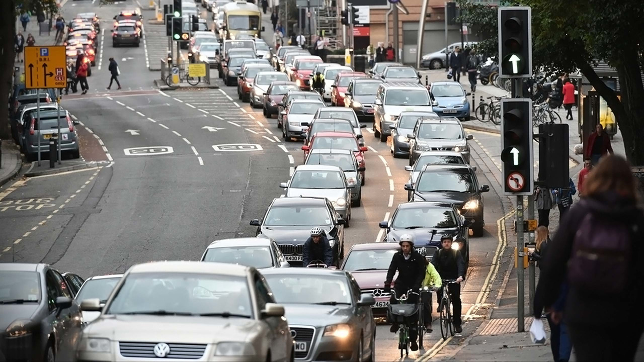 UK city centre traffic