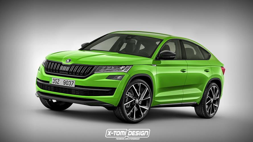 Design - Le Škoda Kodiaq Coupé imaginé par un graphiste