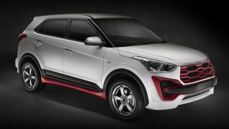 """Hyundai Creta fica com visual """"assustador"""" nas mãos de preparadora"""