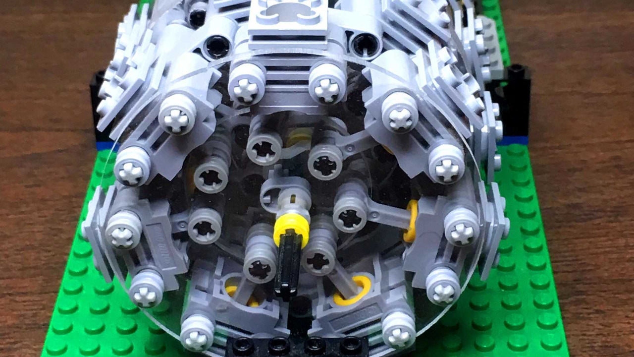Build A BMW >> This Functional Lego 28 Cylinder Radial Engine Will ...