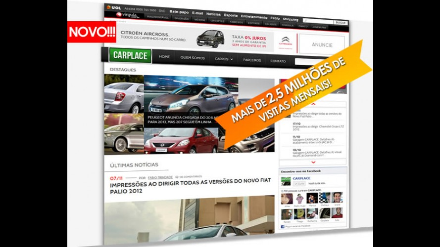 Novo CARPLACE está no ar!!