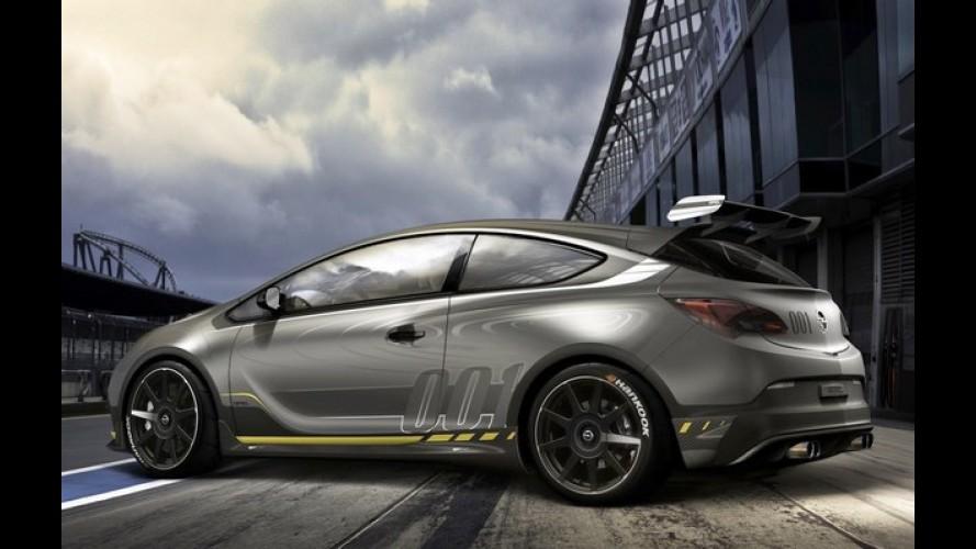 """Esta é a primeira foto do Opel Astra OPC """"Extreme"""" de 300 cv"""
