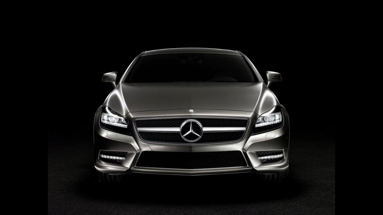 Mercedes mostra faróis de LED com tecnologia Active Multibeam