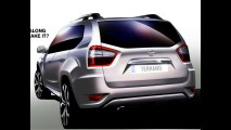 Nissan Terrano tem traseira revelada em novo sketch