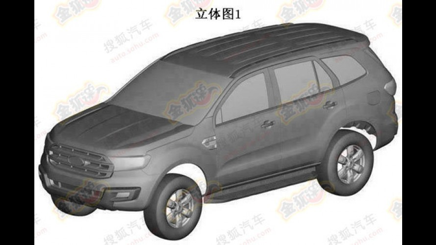 SUV da Ranger, Ford Everest tem primeiras patentes registradas na China