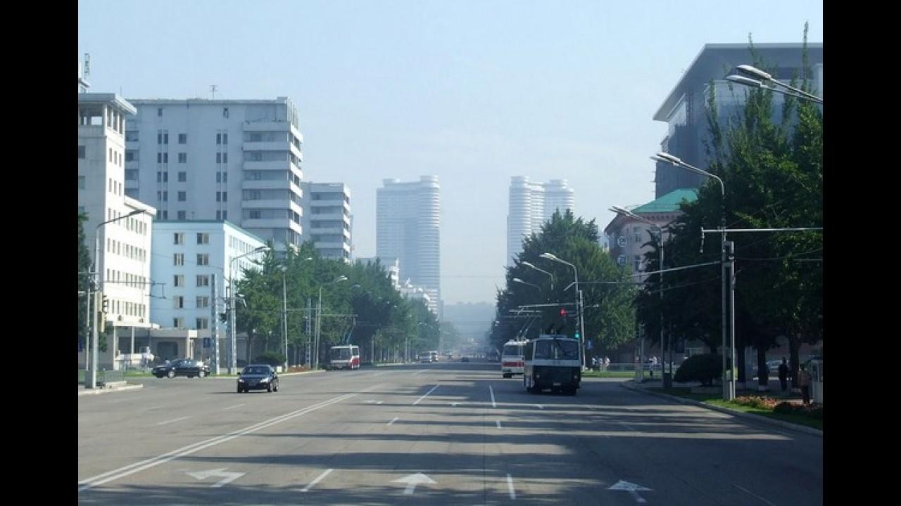 Coreia do Norte, um lugar onde carros são para poucos