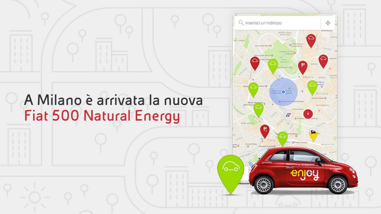 [Copertina] - Enjoy, a Milano arrivano le Fiat 500 a etanolo