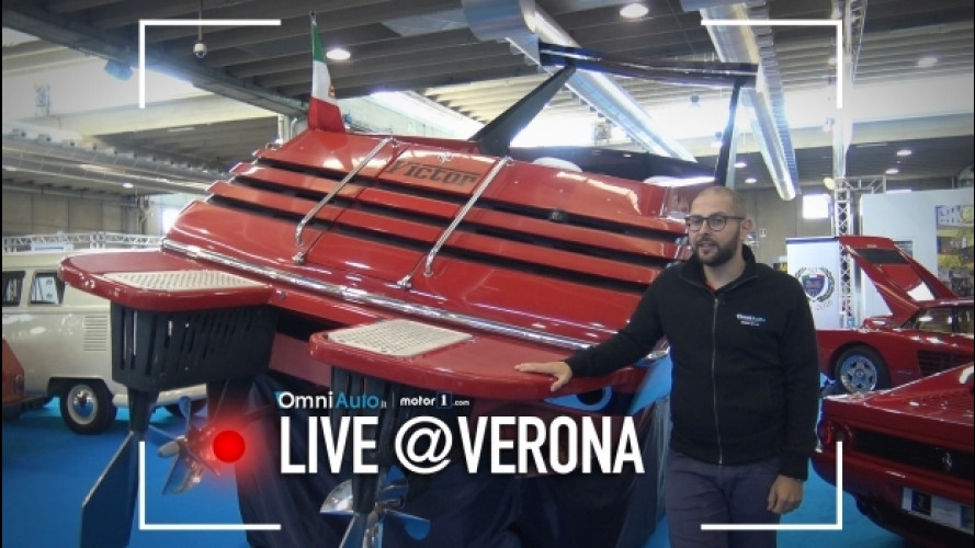 Il motoscafo Ferrari a Verona Legend Cars [VIDEO]