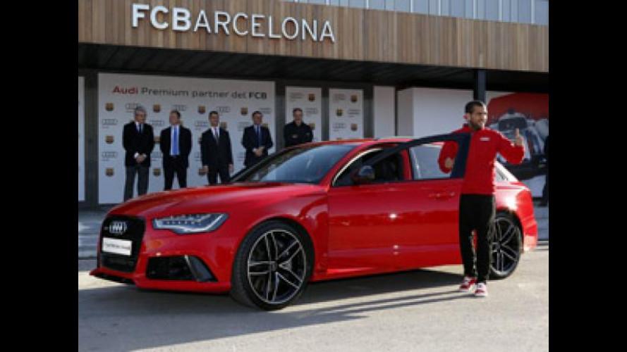 Audi, le auto dei giocatori del Barcellona