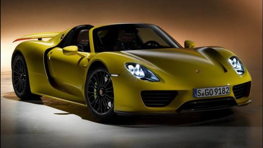 """Porsche 918 Spyder 2014, arriva il """"giallo canarino"""""""