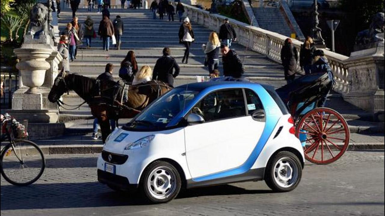 [Copertina] - car2go a Roma: dal 15 marzo disponibili 300 smart in car sharing