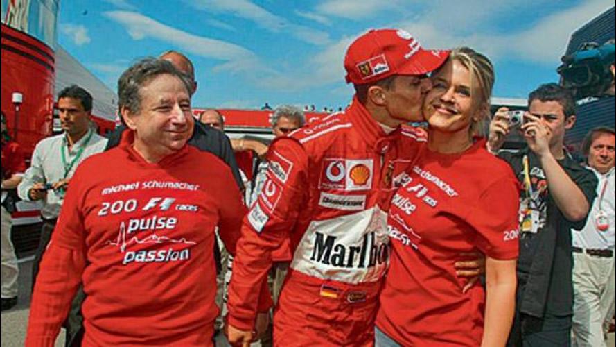 Michael Schumacher ha perso un quarto del suo peso